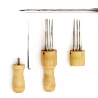 Уред за филц техника дърен с 8 броя игли 127x22 мм