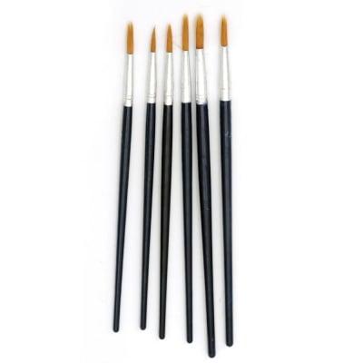 Четки за рисуване плоски изкуствен косъм комплект 6 броя