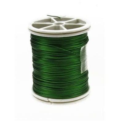Тел медна 0.4 мм зелена светла ~26 метра