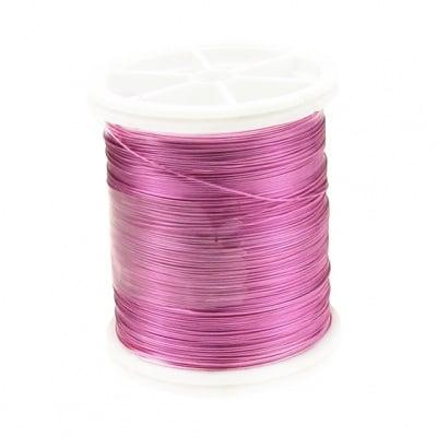 Тел медна 0.3 мм перлена розова ~50 метра