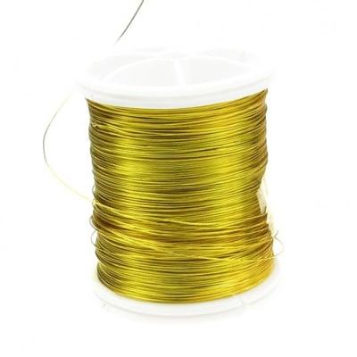 Тел медна 0.3 мм перлена златна ±50 метра