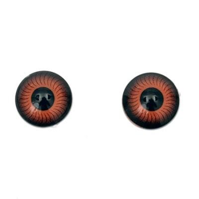 Очички резин 12x4.5 мм кафяви -10 броя