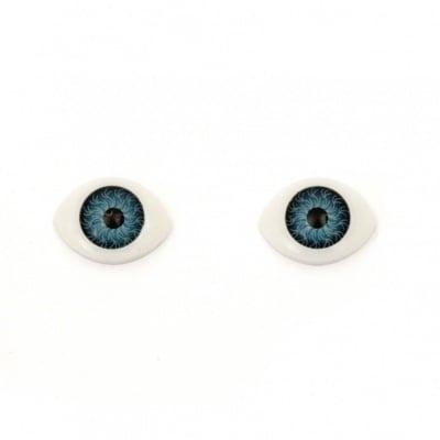 Очички 16x12x6 мм сини -10 броя