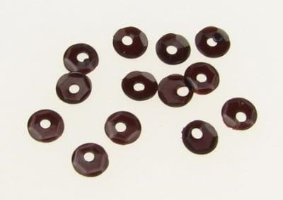 Пайети обли 4 мм кафеви прозрачни - 20 грама