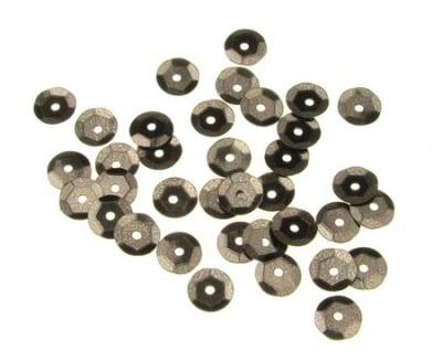 Пайети обли 6 мм кафеви - 20 грама