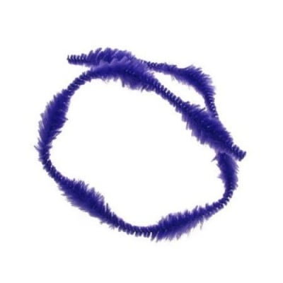 Пръчка телена с осем релефа х2.5 см лилава тъмна -30 см -10 броя