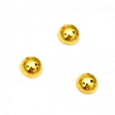 Перла полусфера за пришиване 7 мм цвят злато -50 броя
