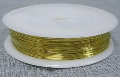 Медна тел 0.4 мм злато ~10 метра