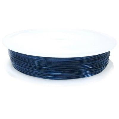 Медна тел 0.4 мм синя тъмно ~10 метра