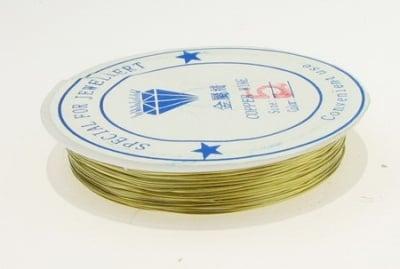 Медна тел 0.5 мм злато ~10 метра