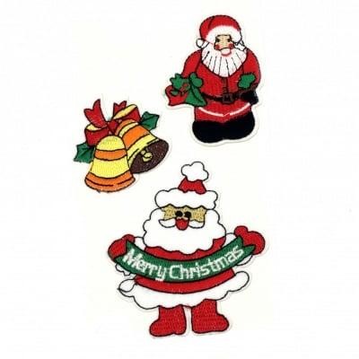 Апликации лепящи 3 броя 50~90 мм Коледни