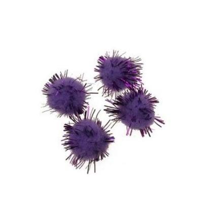Помпони 15 мм ламе лилави -20 броя