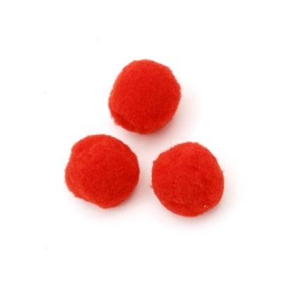 Помпони 25 мм червени първо качество -50 броя