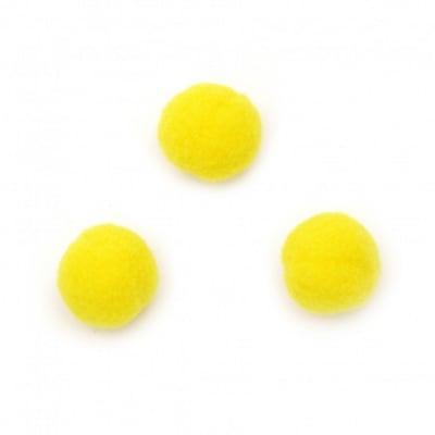 Помпони 20 мм жълти първо качество -50 броя