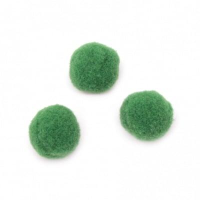 Помпони 20 мм зелени първо качество -50 броя