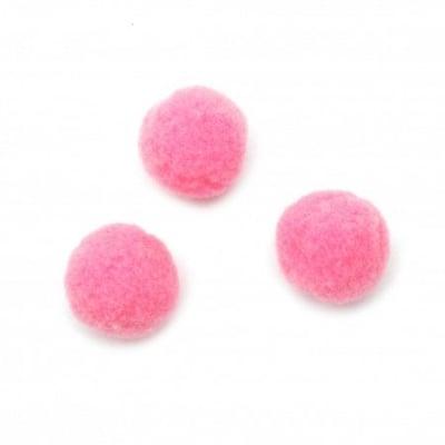 Помпони 20 мм розови първо качество -50 броя