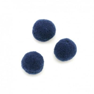 Помпони 20 мм сини тъмно първо качество -50 броя