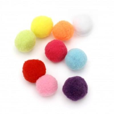 Помпони 25 мм цветни първо качество -50 броя