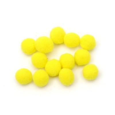 Помпони 13 мм жълти -50 броя