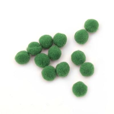 Помпони 13 мм зелени -50 броя
