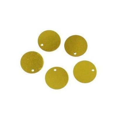 Пайети обли плоски 26 мм злато - 20 грама ~112 броя