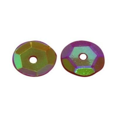 Пайети обли 7 мм дъга розови тъмно -20гр