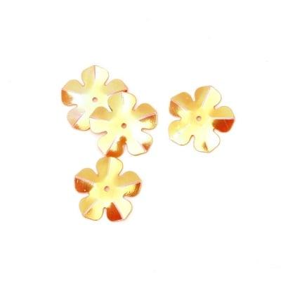 Пайети цвете 20 мм оранжеви дъга - 20 грама