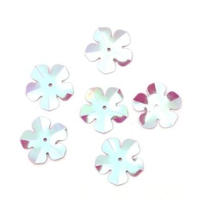 Пайети цвете 20 мм лилави дъга - 20 грама