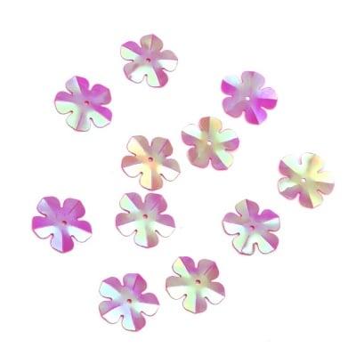 Пайети цвете 20 мм циклама дъга - 20 грама