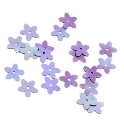Пайети цвете 10 мм лилави дъга -20 грама