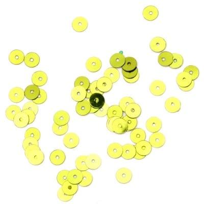 Пайети обли плоски 5 мм зелени светло - 20 грама