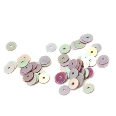 Пайети обли плоски 5 мм лилави дъга - 20 грама