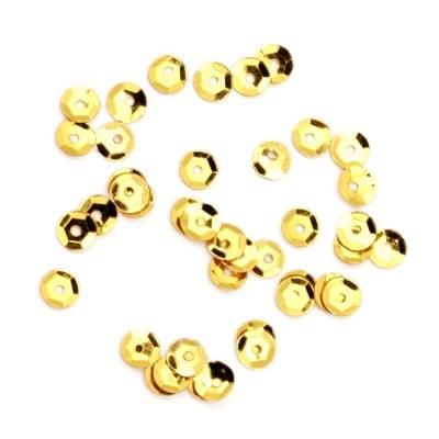 Пайети обли 5 мм злато - 20 грама