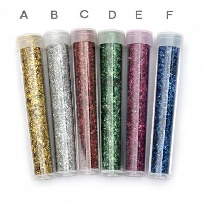 Брокат едър за декорация в бурканче АСОРТЕ цветове ~2.3 грама