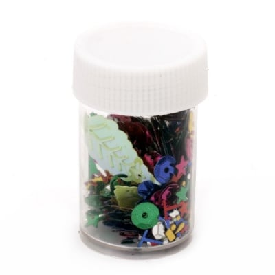 Елементи за декорация АСОРТЕ форми в бурканче 4~6 грама