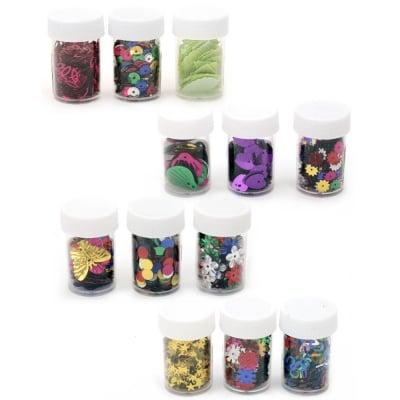 Елементи за декорация в бурканче различни видове 4±8 грама