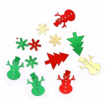 Елементи за декорация Коледа 11x11~15x20 мм -9 грама