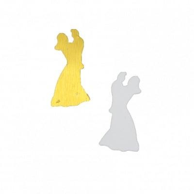 Елементи за декорация младоженци 10x20 мм -11 грама