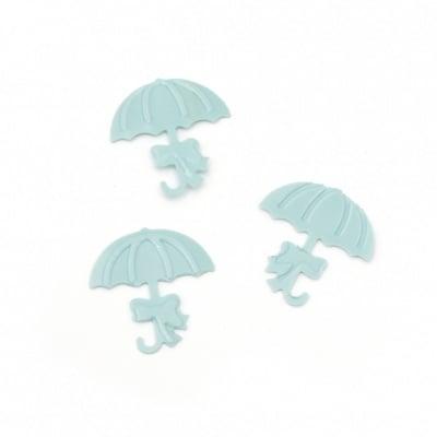 Елементи за декорация чадър 17x18 мм цвят син -5 грама