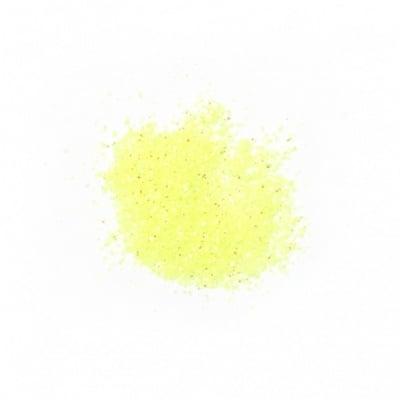 Брокат/глитер на прах 0.3 мм 250 микрона жълт електрик холограмен/дъга -20 грама