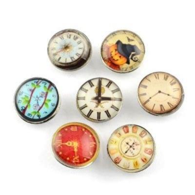 Копче Тик-так 18 мм имитация часовник АСОРТЕ