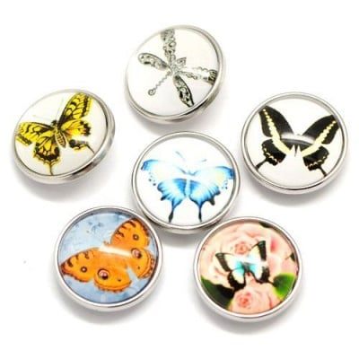 Копче Тик-так 18 мм пеперуди АСОРТЕ