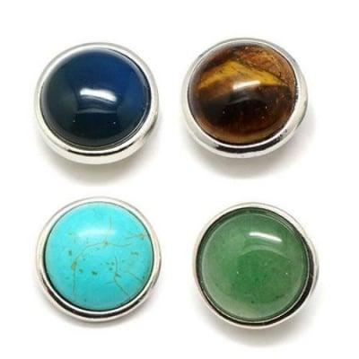 Копче Тик-так 18 мм естествен камък АСОРТЕ