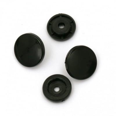 Пласмасови тик-так копчета 12 мм цвят черен -20 броя