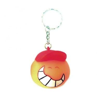 Ключодържател гумен светещ -момче усмивка 55мм.