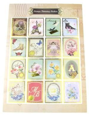 Самозалепващи стикери марки 16 броя