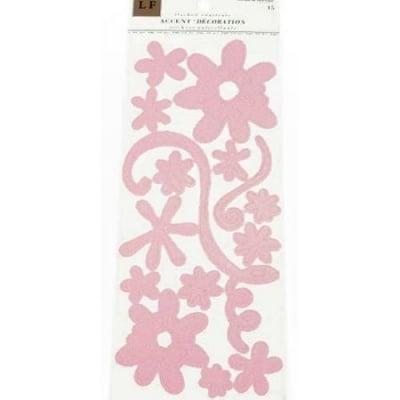 Самозалепващи стикери от филц розов