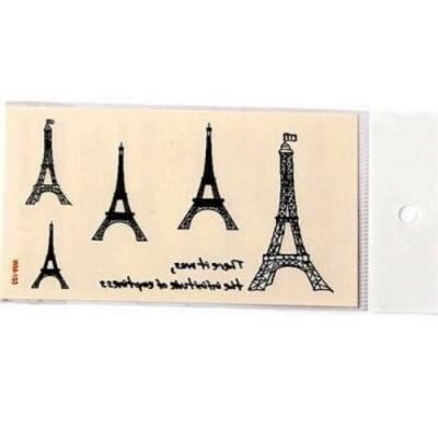 Хартиени стикери, временни татуировки, Айфелова кула 5~49x11~42 мм -5 броя