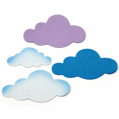 Облаци фоам /EVA материал/ 110±160х65±110 мм - 12 броя