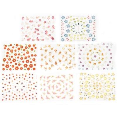 Стикери за декорация 3D цветя микс